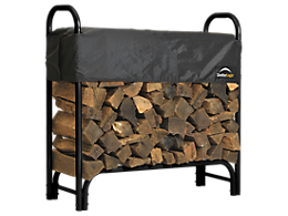 Heavy Duty Firewood Rack with Cover 4 ft.