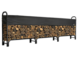 Heavy Duty Firewood Rack with Cover 12 ft.