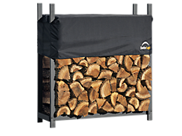 Ultra Duty Firewood Rack with Cover 4 ft.