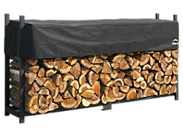 Ultra Duty Firewood Rack with Cover 8 ft.