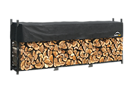Ultra Duty Firewood Rack with Cover 12 ft.