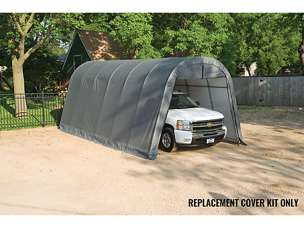 Fabric Garage Kits : Replacement cover kit for the garage in a box round