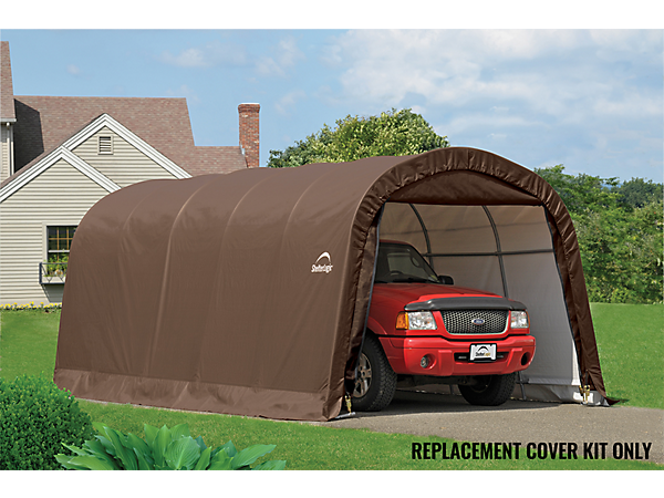 Fabric Carport Covers : Replacement cover kit for the garage in a box roundtop