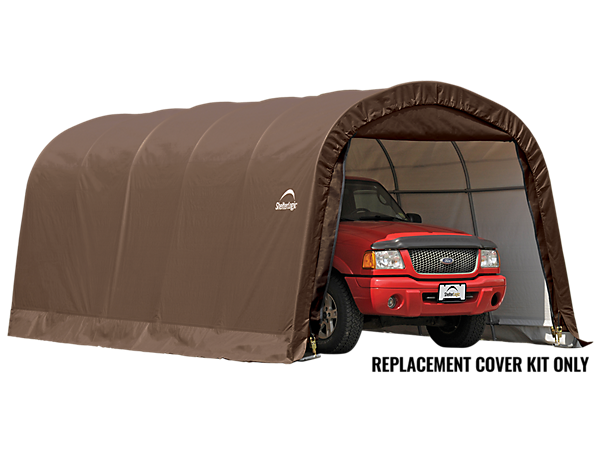 Portable Greenhouse Replacement Cover : Replacement cover kit for the garage in a box roundtop