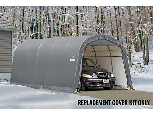 Shelterlogic Replacement Cover : Replacement cover kit for the garage in a box roundtop