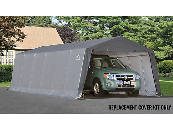 Shelterlogic Replacement Cover Kit : Replacement cover kit for the garage in a box peak