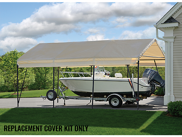 Fabric Carport Covers : Replacement cover kit for the carport in a box