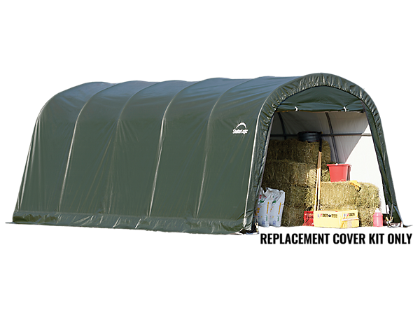 Portable Shed Replacement Covers : Replacement cover kit for the garage in a box roundtop