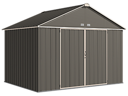 EZEE Shed 10 x 8 ft. Storage Shed in Charcoal with Cream Trim