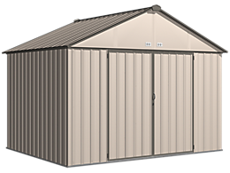 EZEE Shed 10 x 8 ft. Storage Shed in Cream with Charcoal Trim