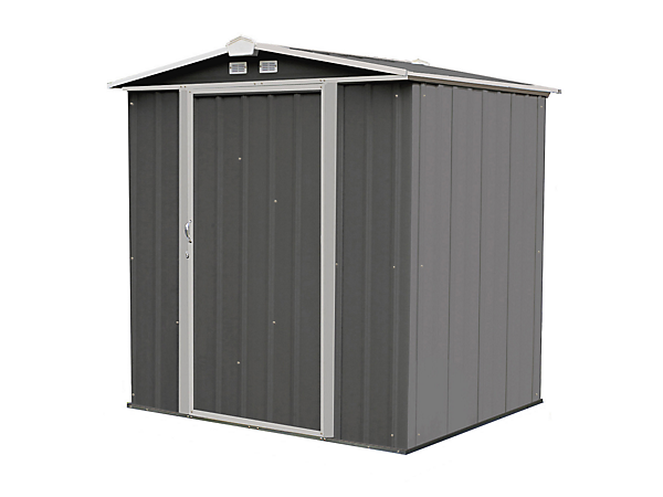 EZEE Shed 6 x 5 ft. Storage Shed in Charcoal with Cream Trim