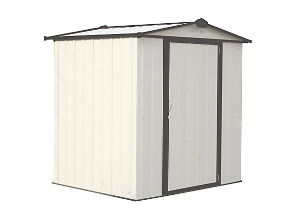 EZEE Shed 6 x 5 ft. Storage Shed in Cream with Charcoal Trim