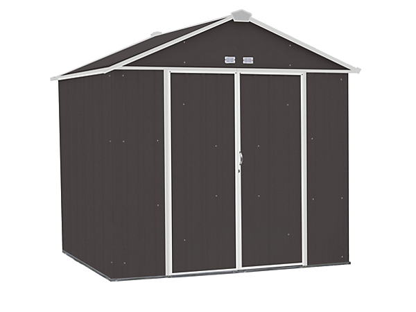 EZEE Shed 8 x 7 ft. Storage Shed in Charcoal with Cream Trim