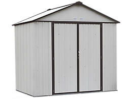 EZEE Shed 8 x 7 ft. Storage Shed in Cream with Charcoal Trim