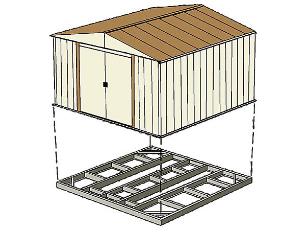 best practices foundation anchoring arrow storage. Black Bedroom Furniture Sets. Home Design Ideas
