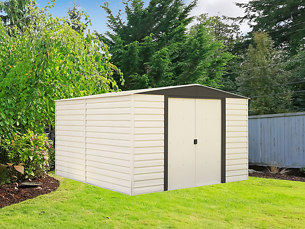 Vinyl Dallas 10 x 8 ft. Vinyl-Coated Steel Storage Shed