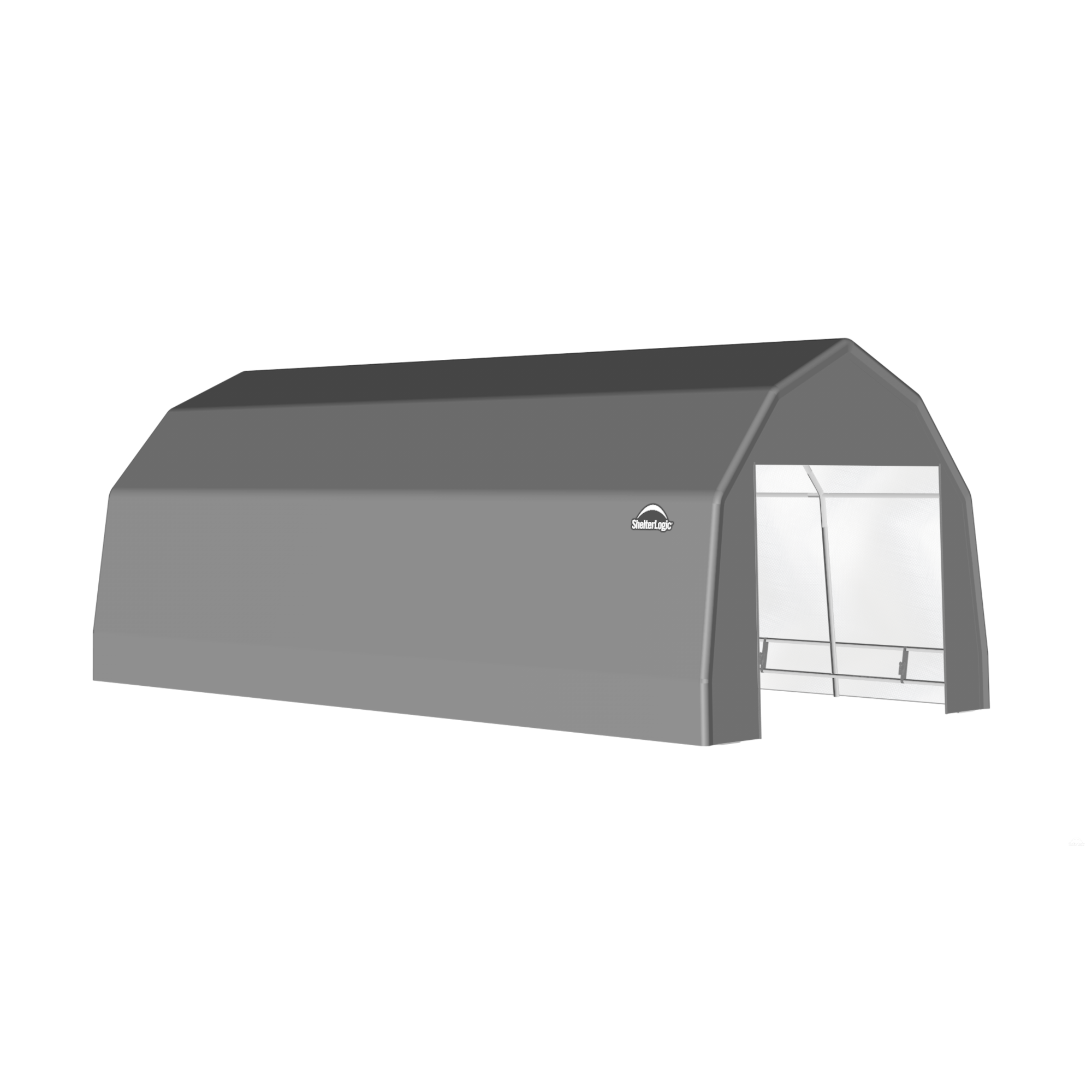 SP Barn 12X28X9 Gray 14 oz PE Shelter