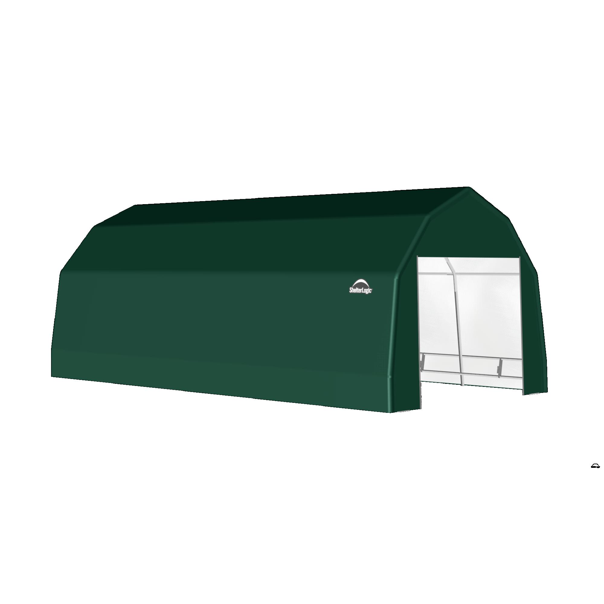 SP Barn 12X24X9 Green 14 oz PE Shelter