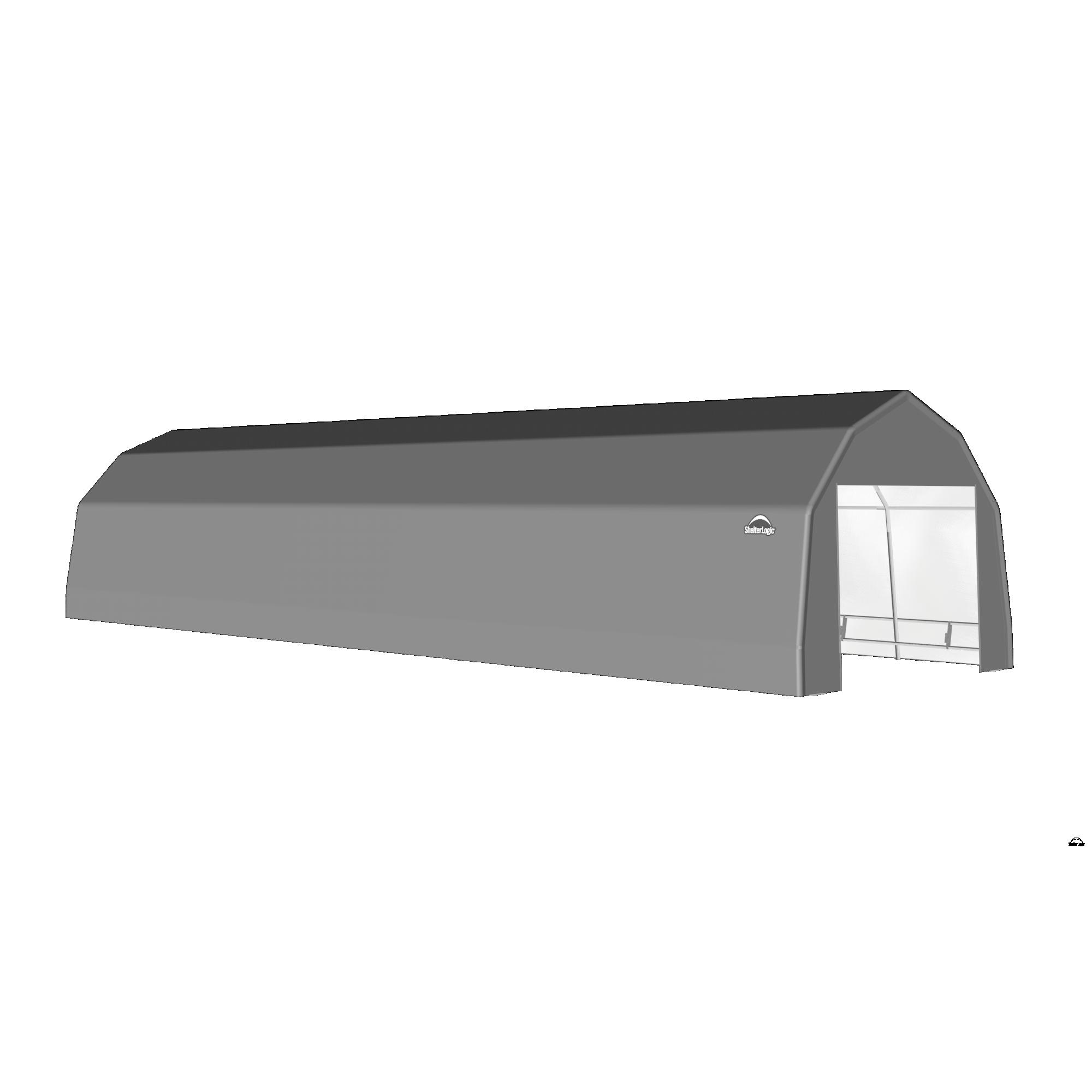 SP Barn 12X40X9 Gray 14 oz PE Shelter