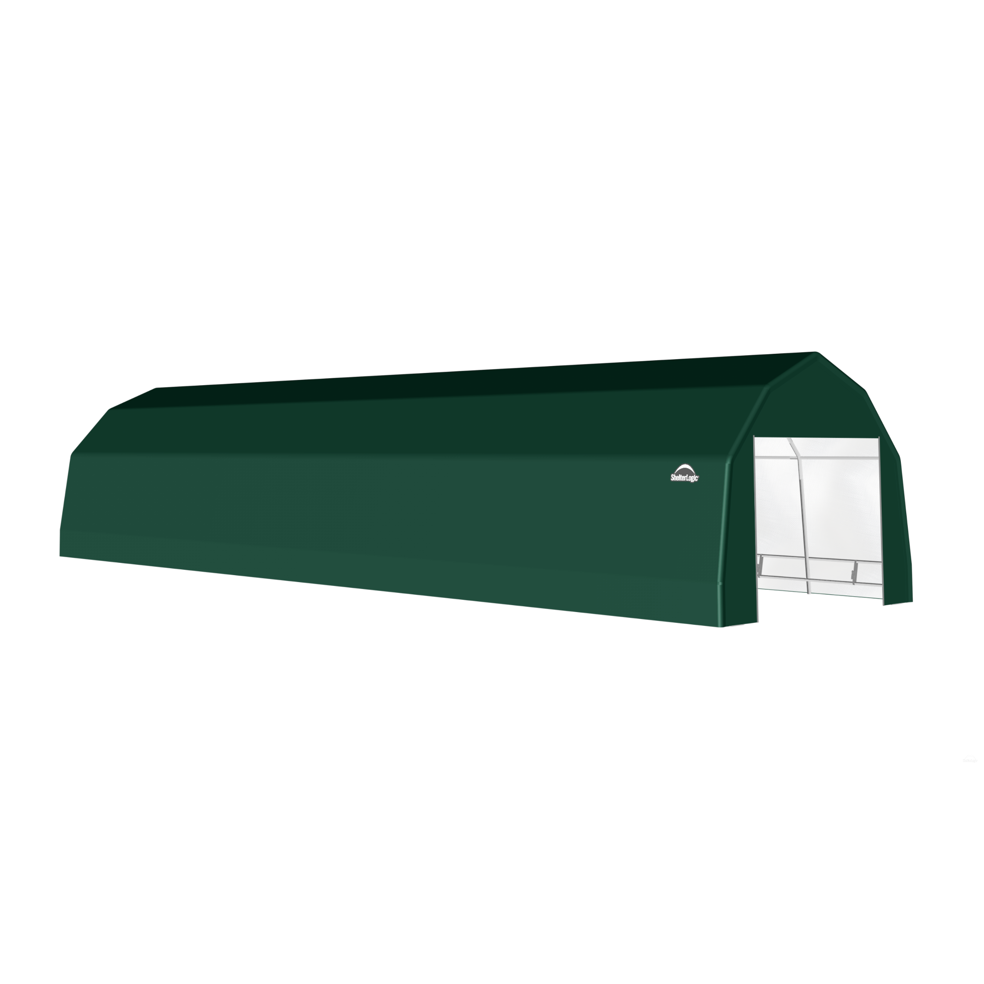 SP Barn 12X32X9 Green 14 oz PE Shelter