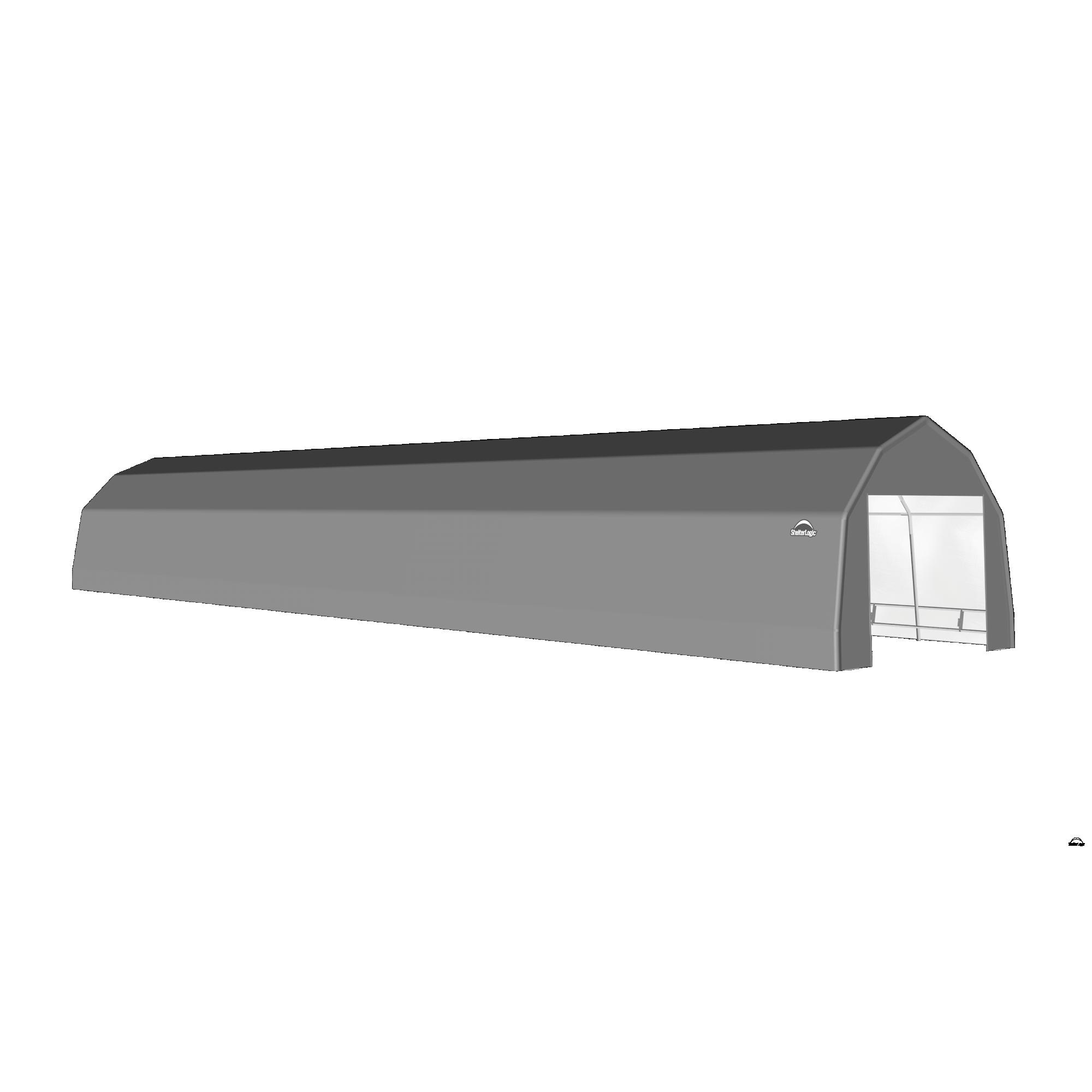 SP Barn 12X52X9 Gray 14 oz PE Shelter