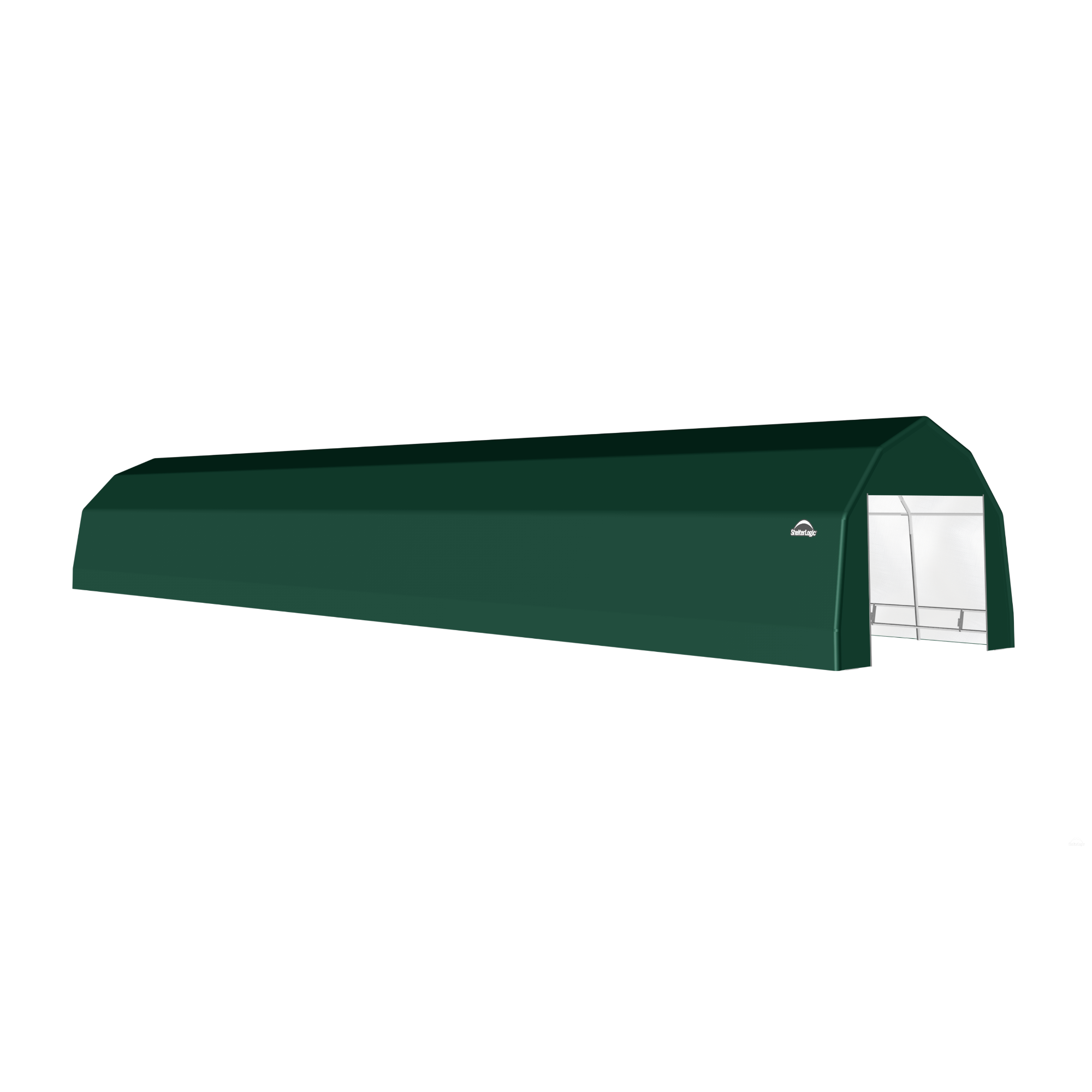 SP Barn 12X56X9 Green 14 oz PE Shelter