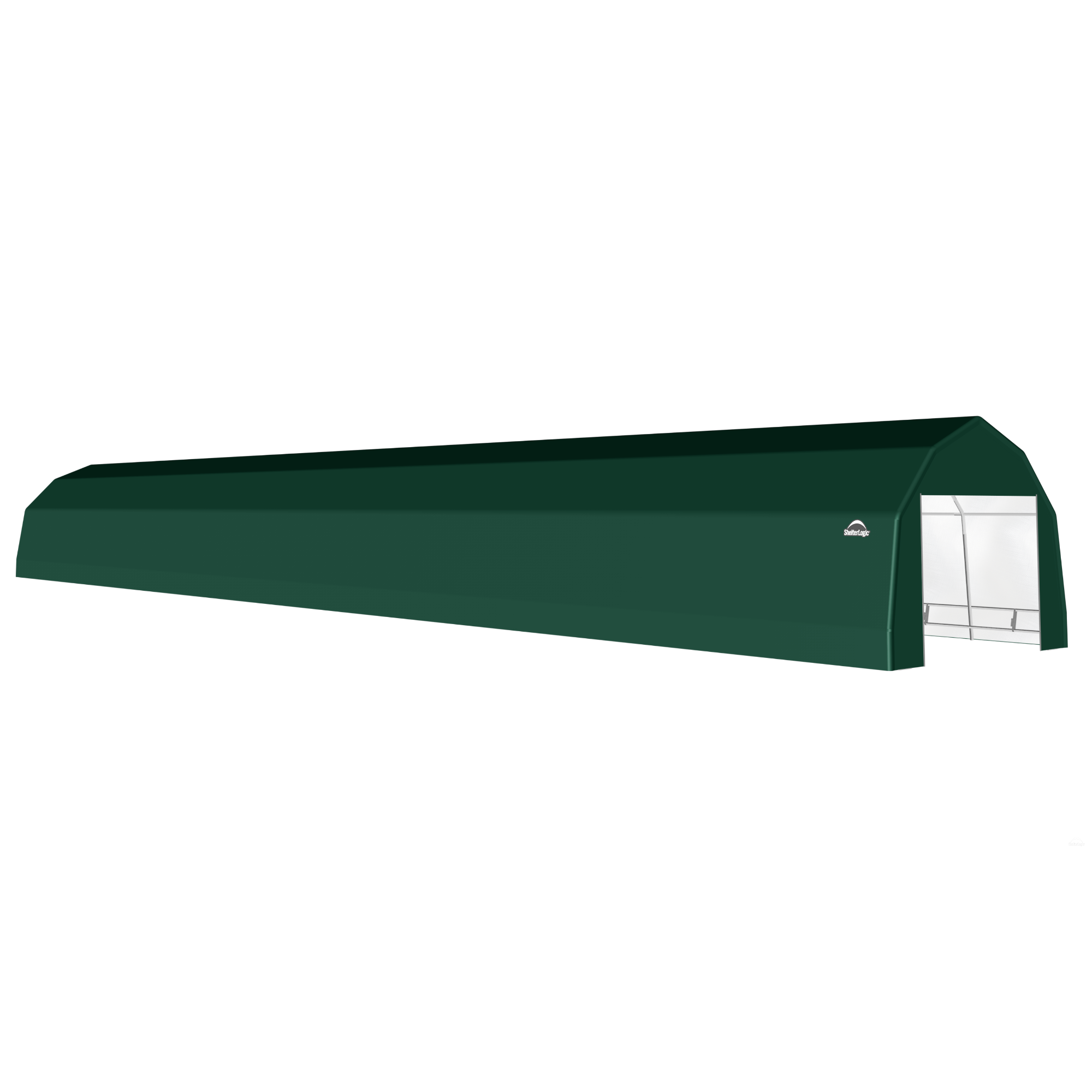SP Barn 12X72X9 Green 14 oz PE Shelter