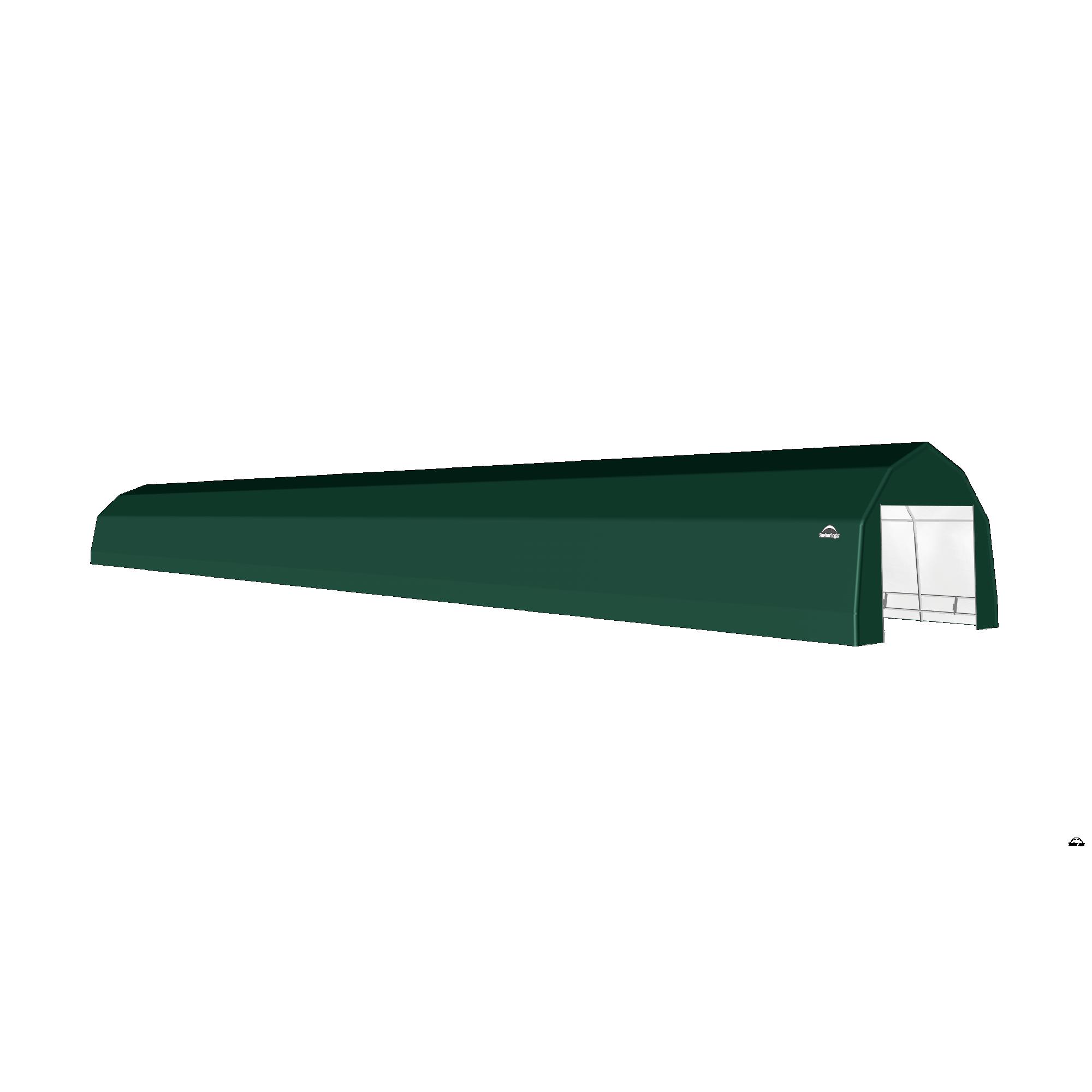 SP Barn 12X92X9 Green 14 oz PE Shelter