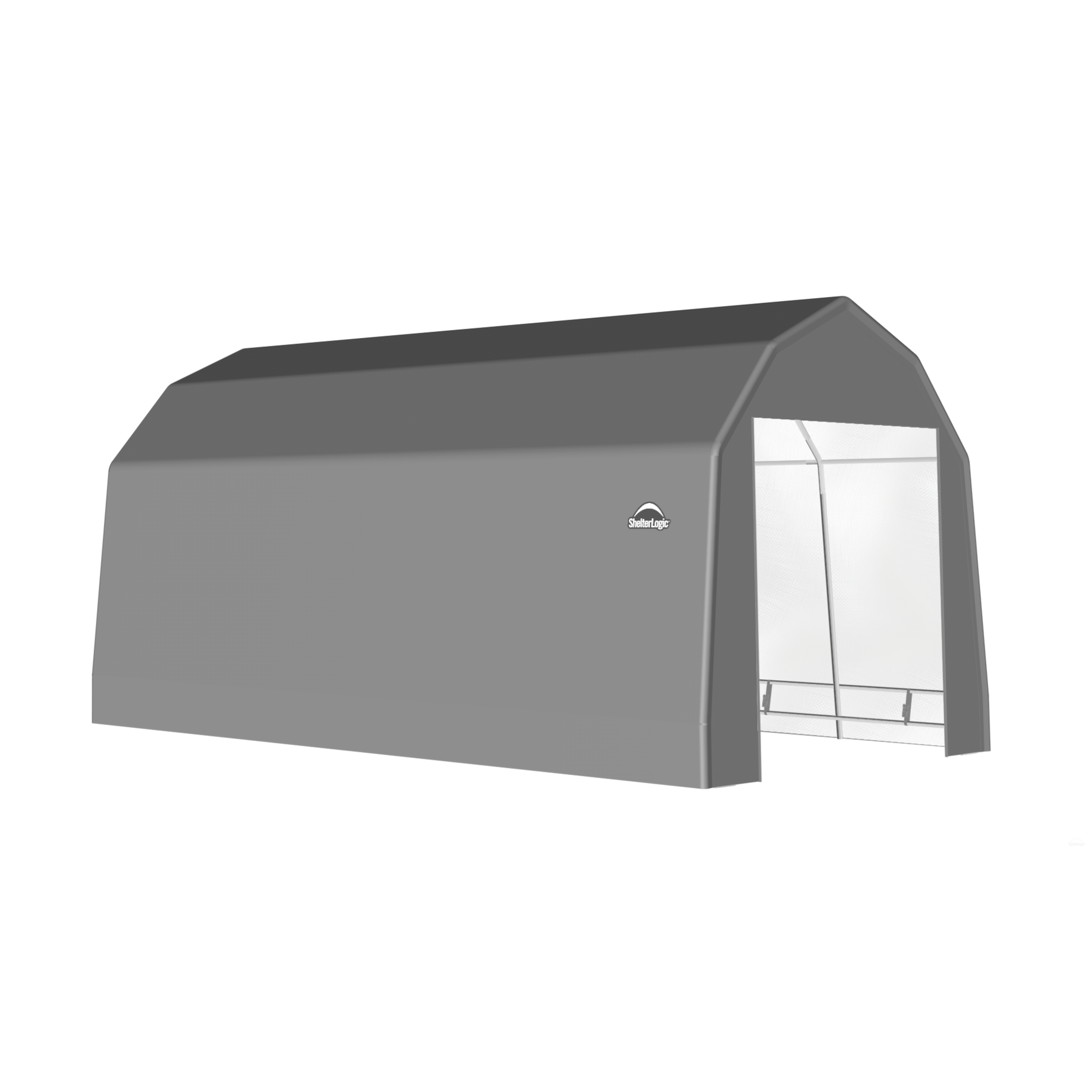 SP Barn 12X28X11 Gray 14 oz PE Shelter