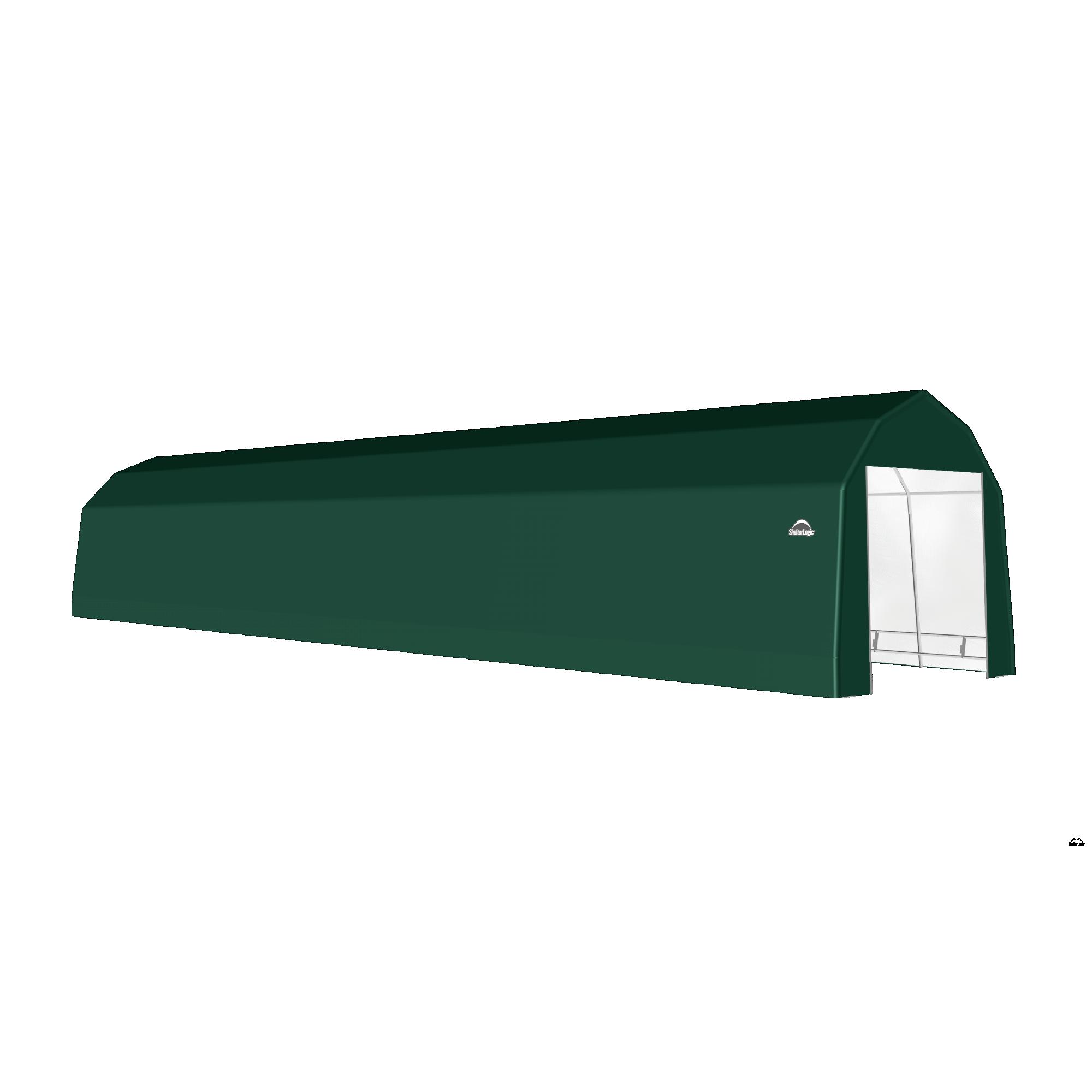 SP Barn 12X64X11 Green 14 oz PE Shelter