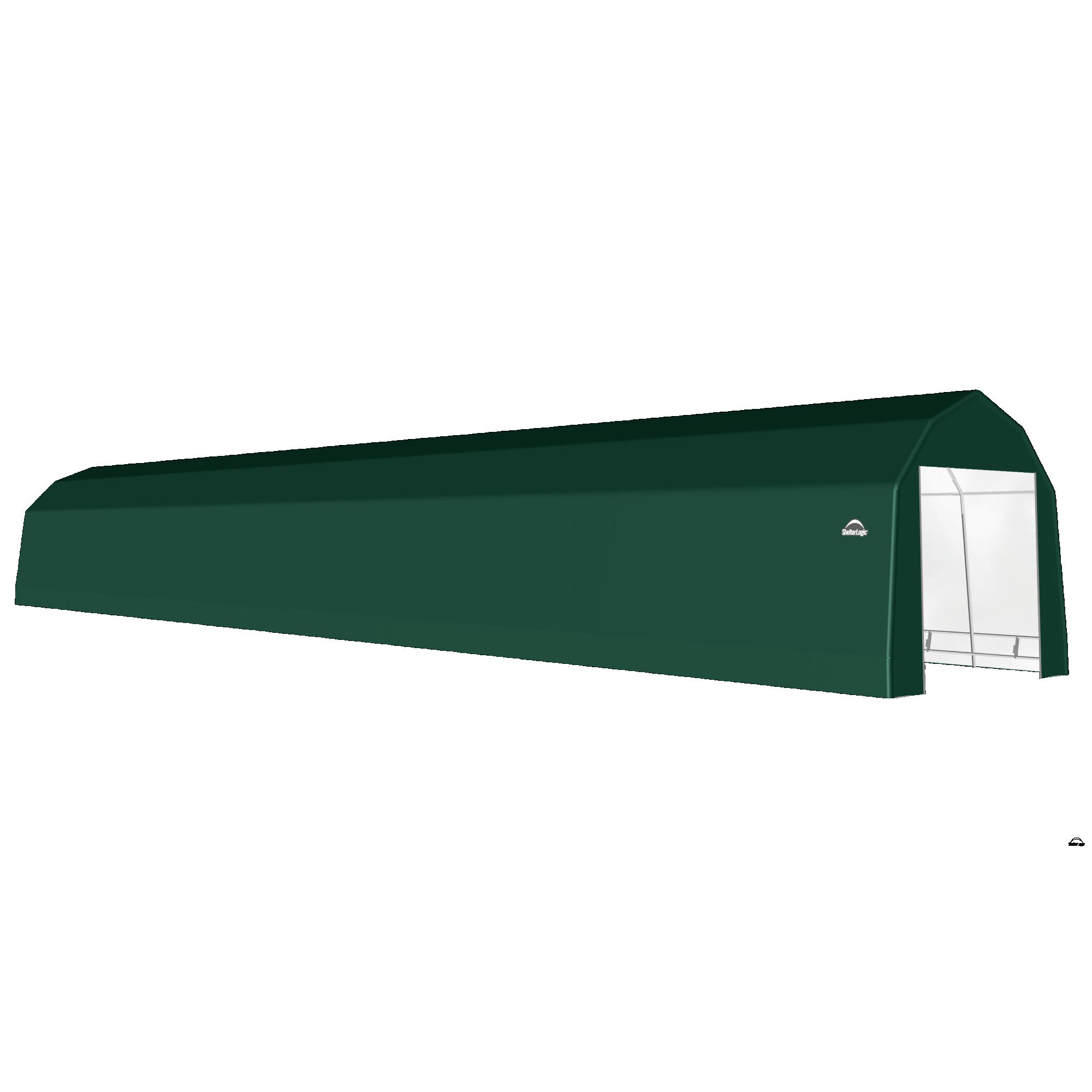 SP Barn 12X76X11 Green 14 oz PE Shelter