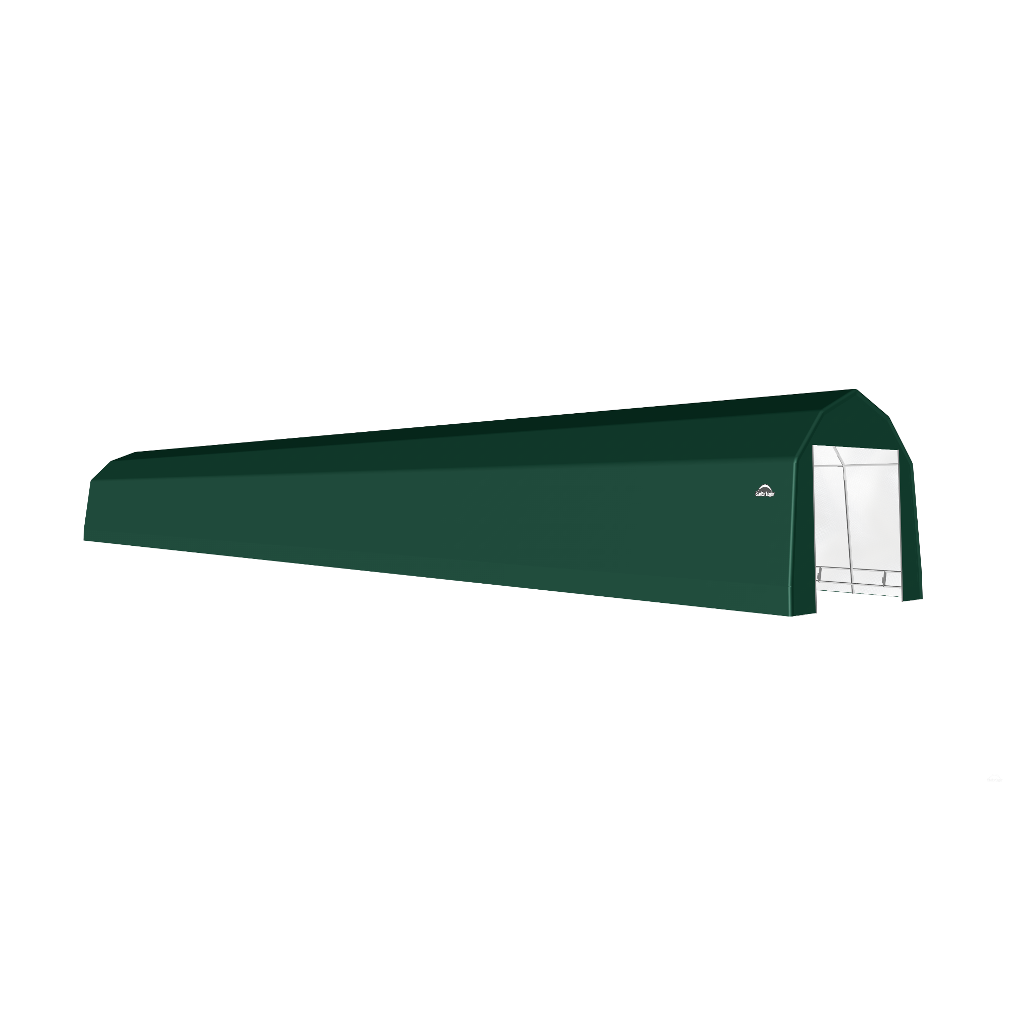 SP Barn 12X100X11 Green 14 oz PE Shelter