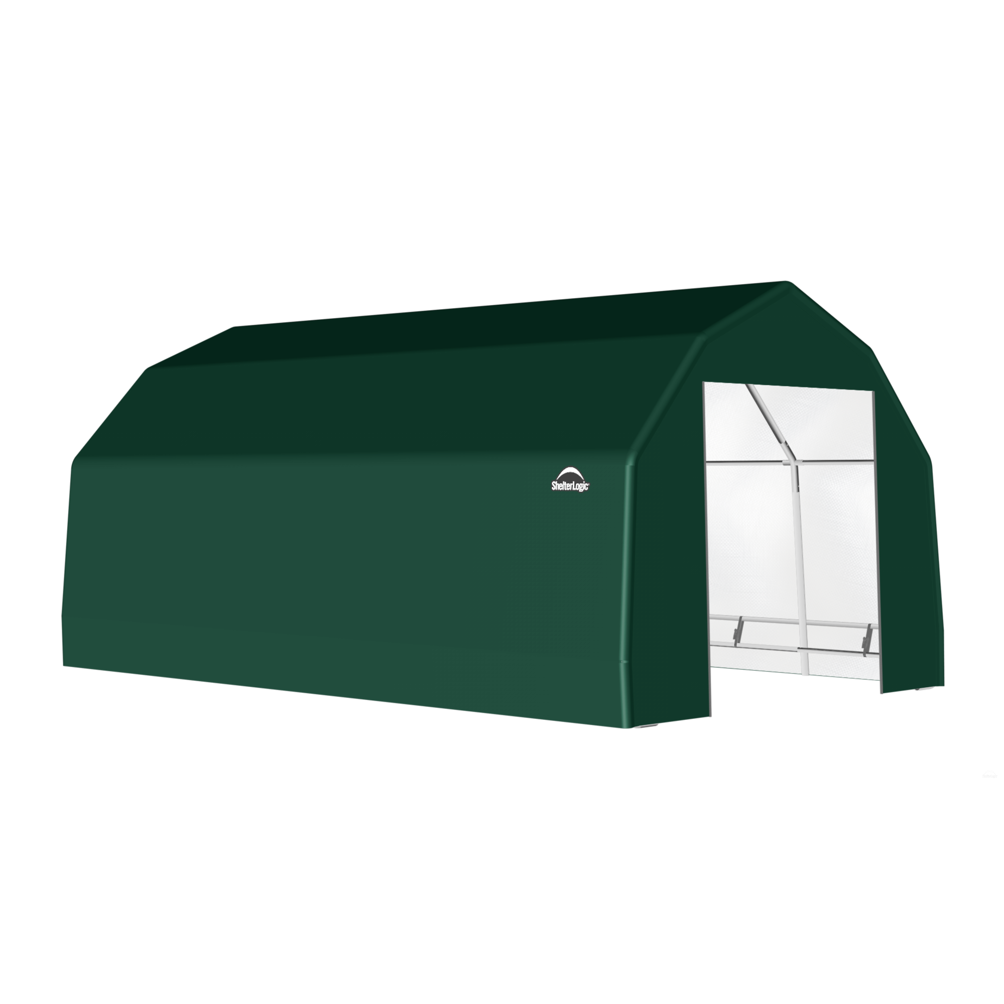 SP Barn 15X24X11 Green 14 oz PE Shelter