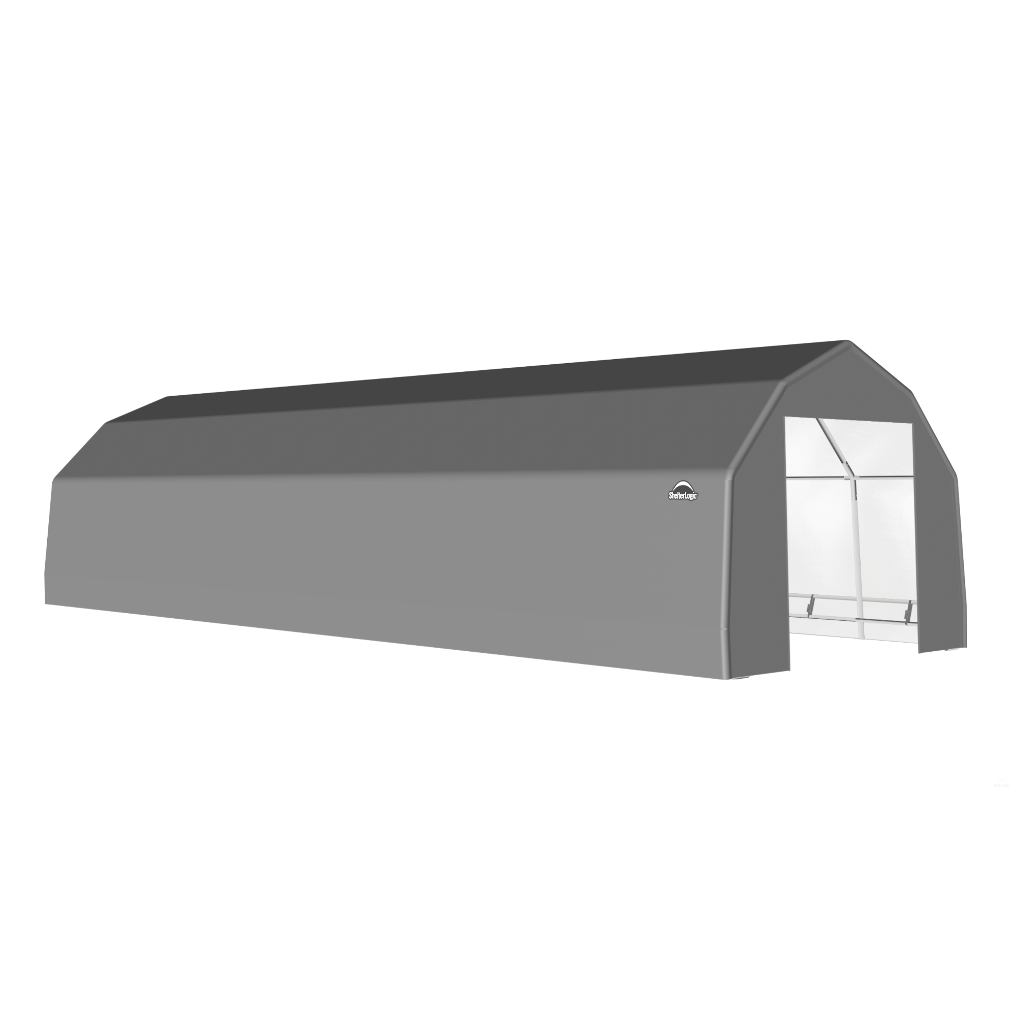 SP Barn 15X48X11 Gray 14 oz PE Shelter