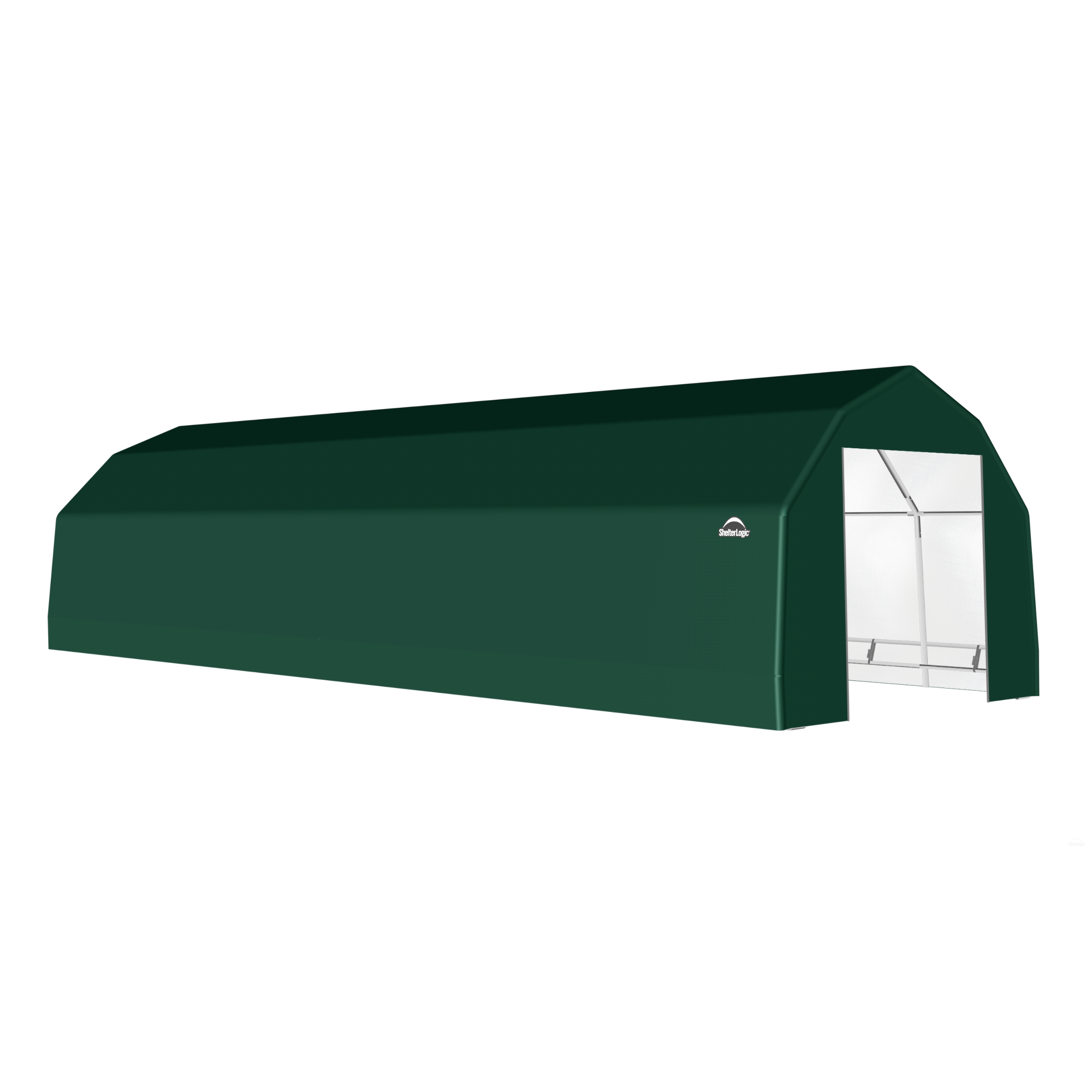 SP Barn 15X48X11 Green 14 oz PE Shelter