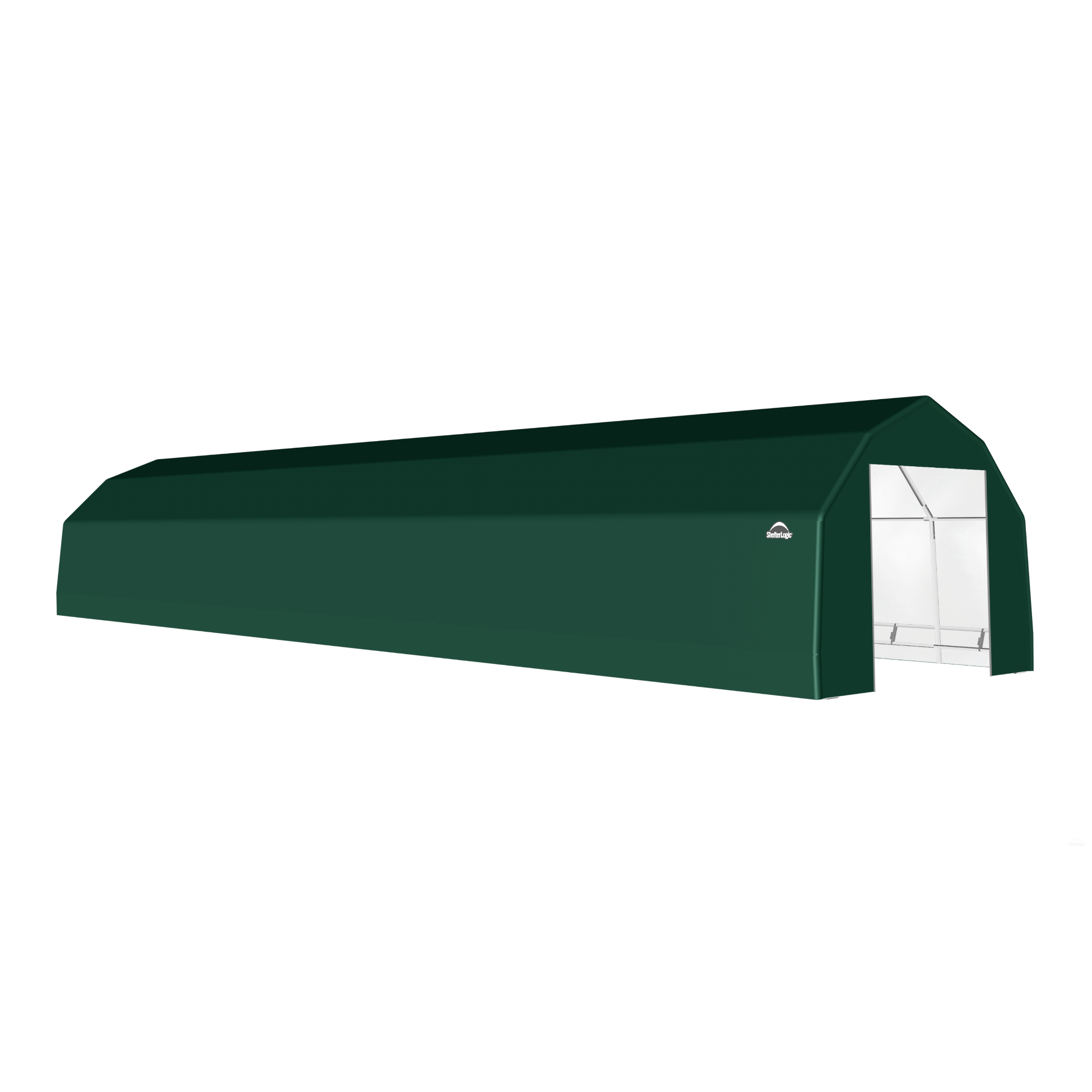 SP Barn 15X68X11 Green 14 oz PE Shelter