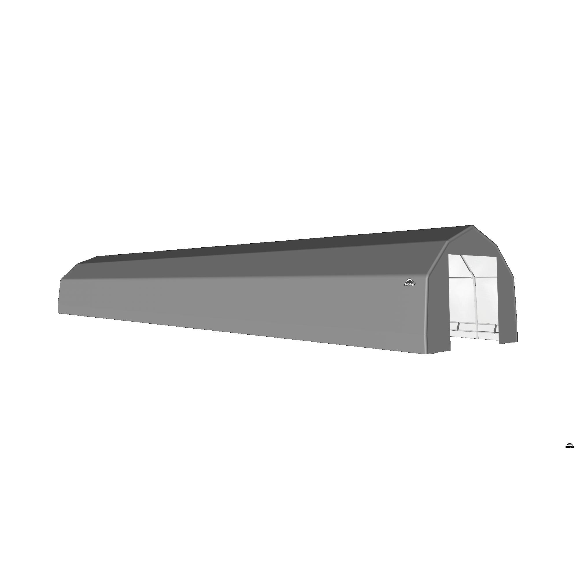 SP Barn 15X80X11 Gray 14 oz PE Shelter