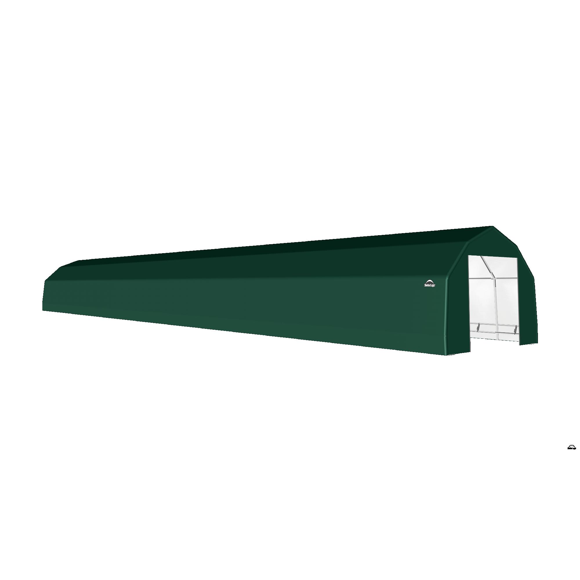 SP Barn 15X96X11 Green 14 oz PE Shelter