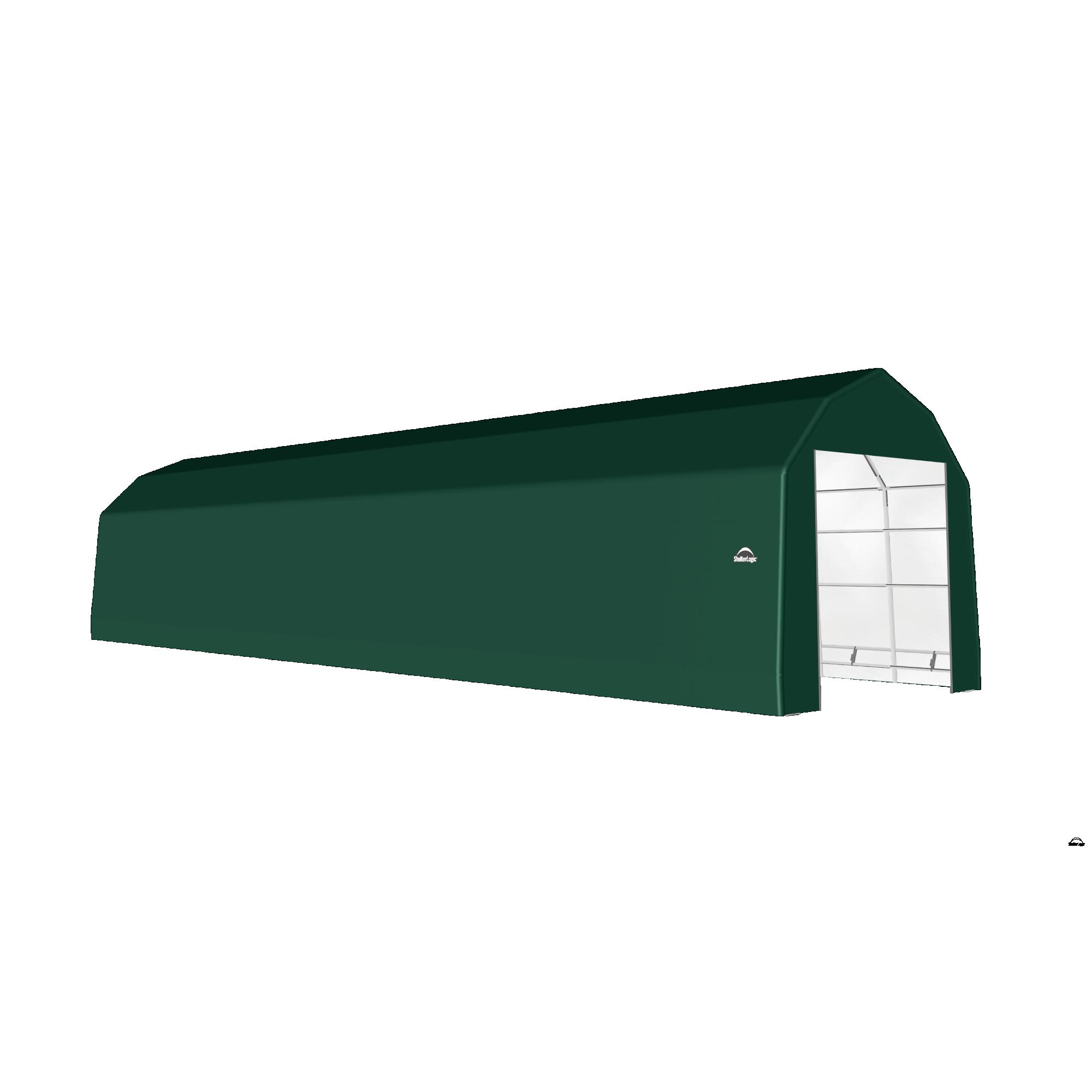 SP Barn 15X56X14 Green 14 oz PE Shelter