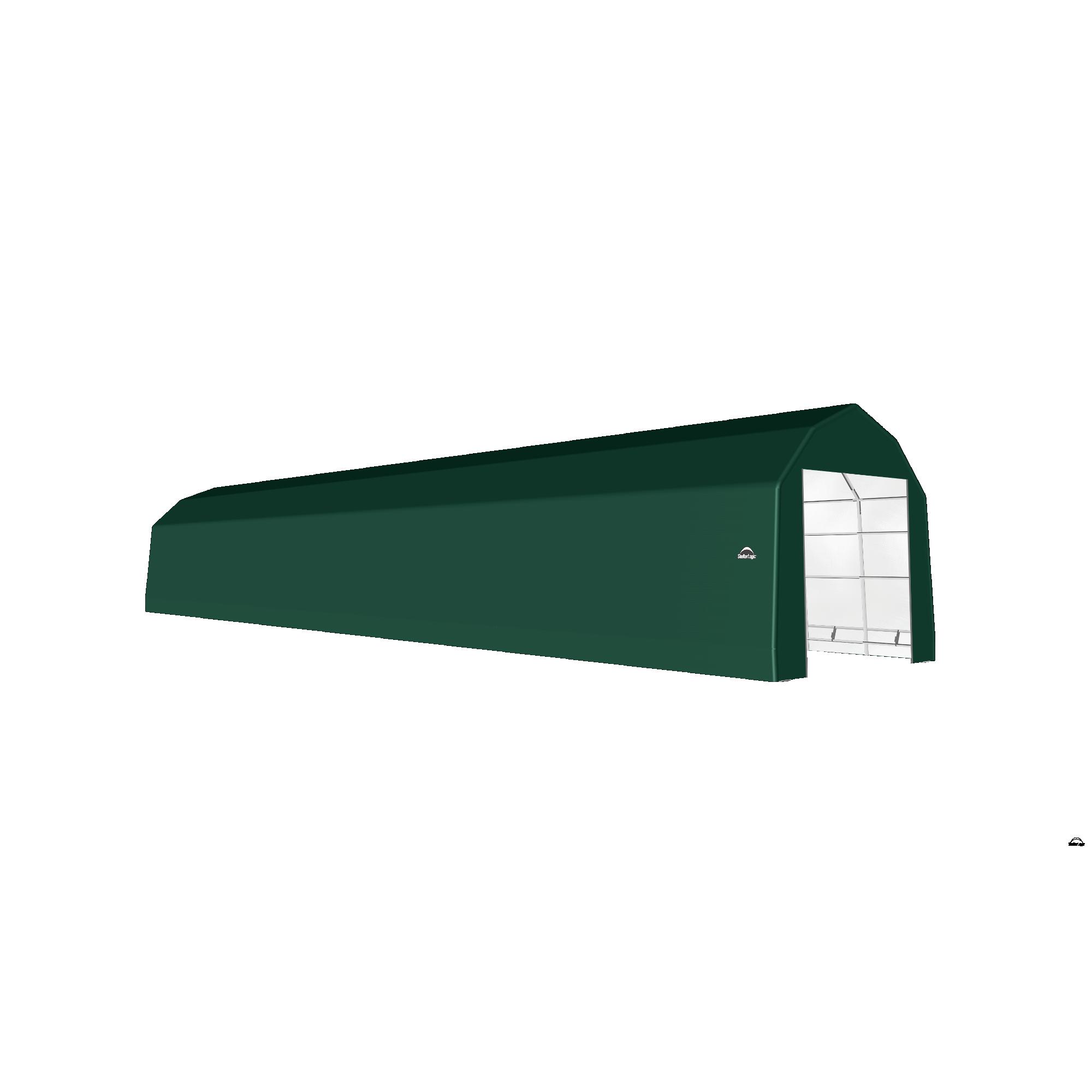 SP Barn 15X76X14 Green 14 oz PE Shelter