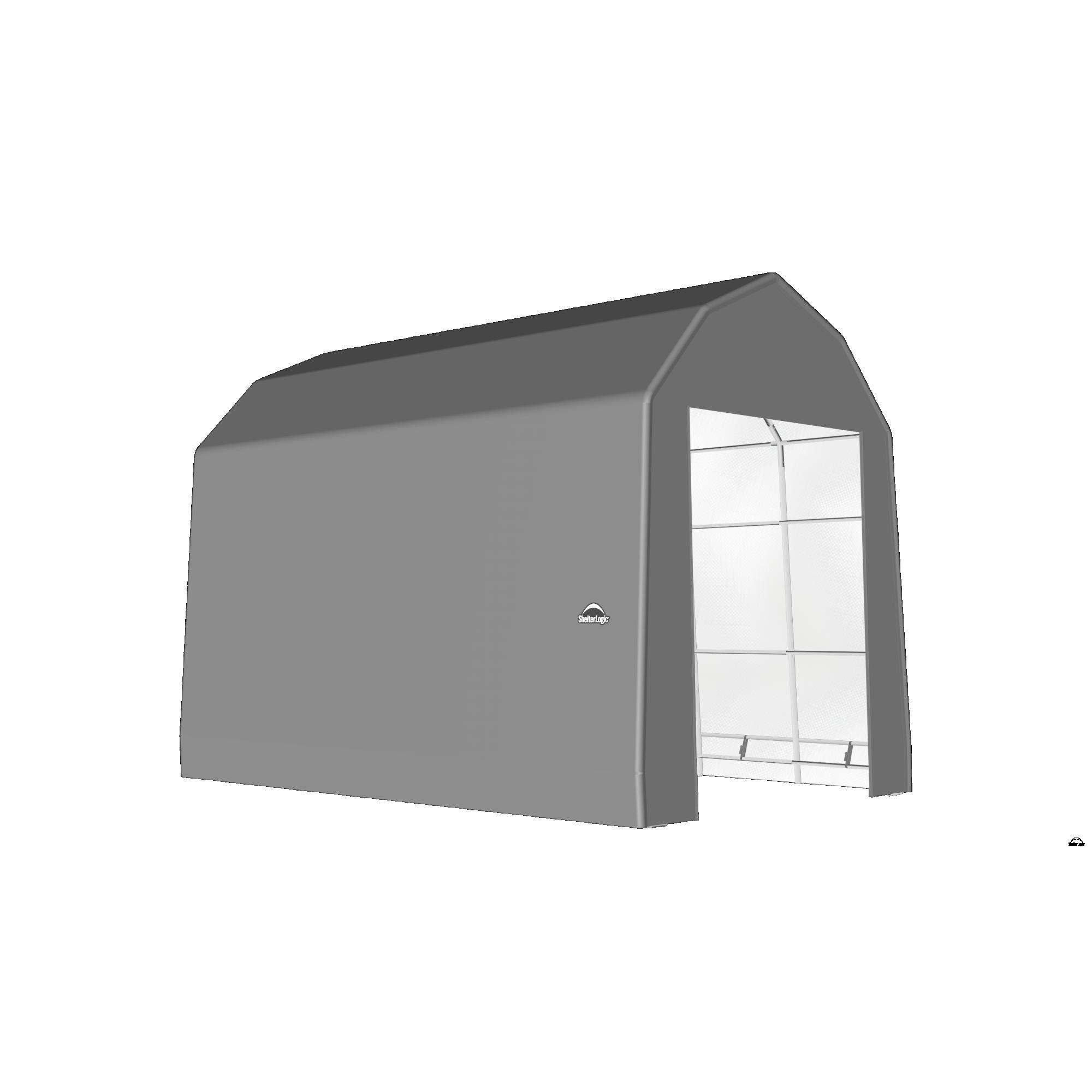 SP Barn 15X28X17 Gray 14 oz PE Shelter
