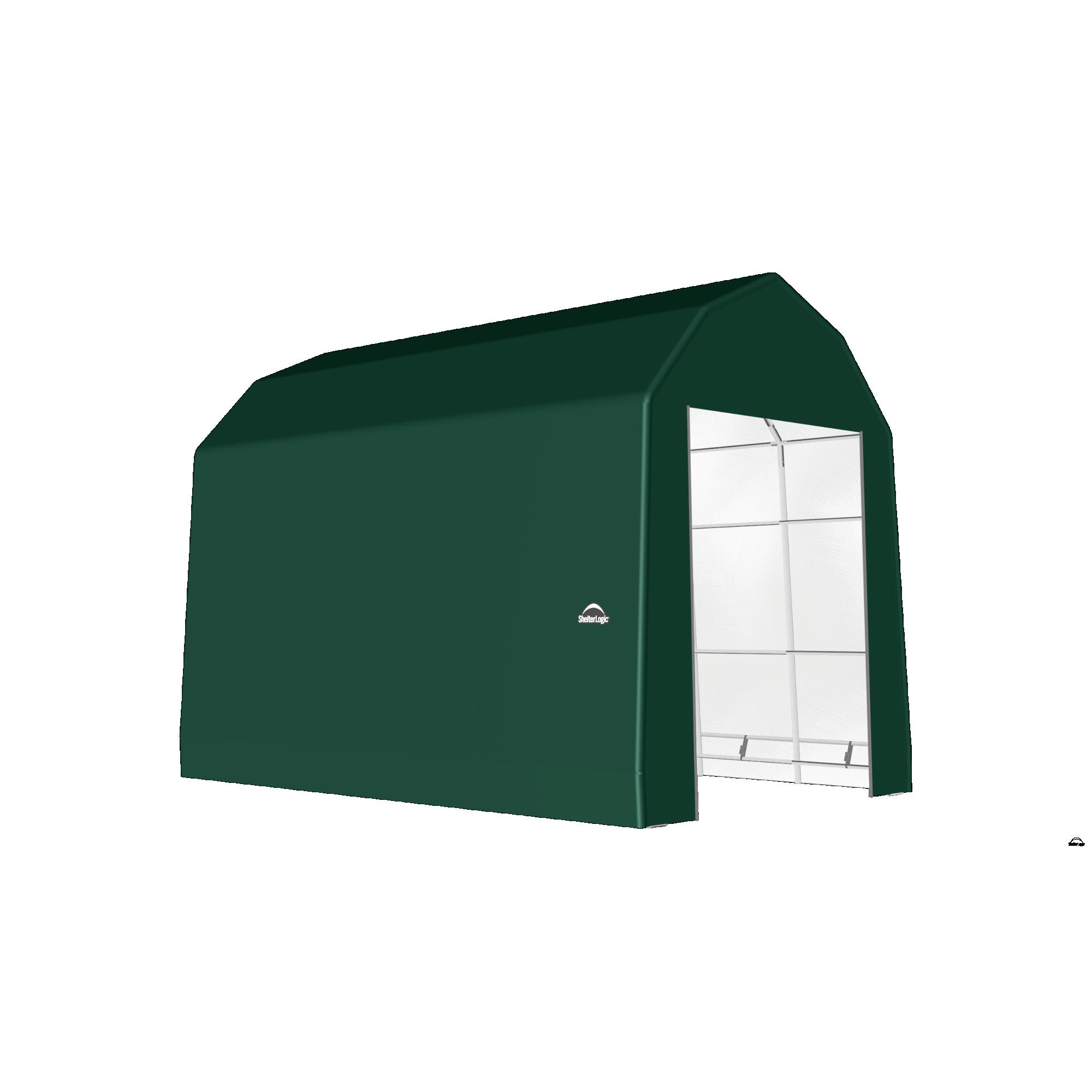 SP Barn 15X24X17 Green 14 oz PE Shelter