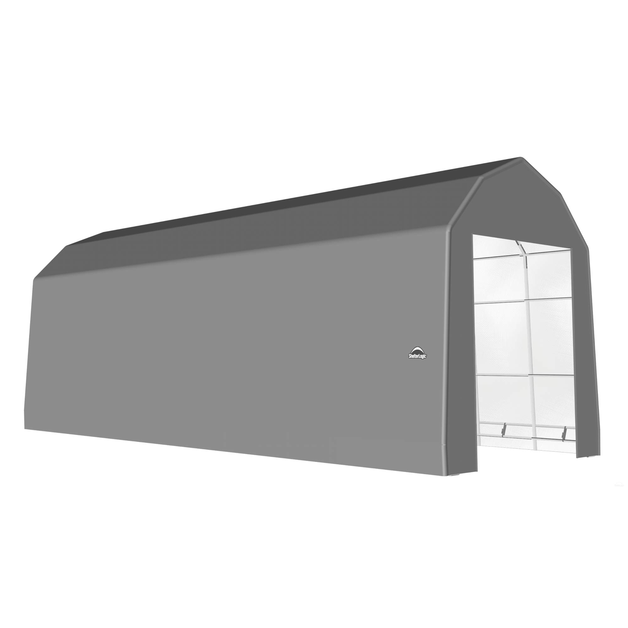 SP Barn 15X36X17 Gray 14 oz PE Shelter
