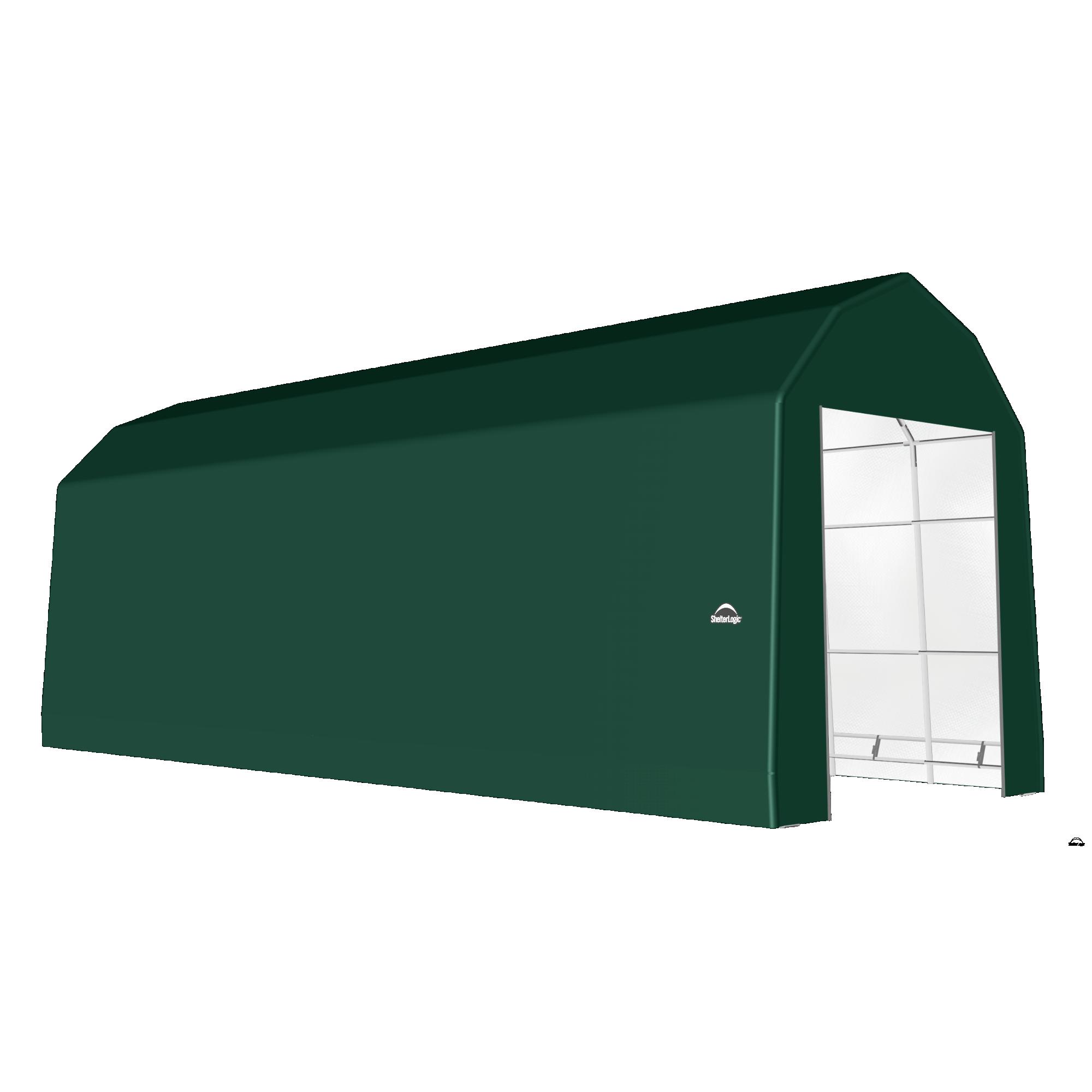 SP Barn 15X48X17 Green 14 oz PE Shelter