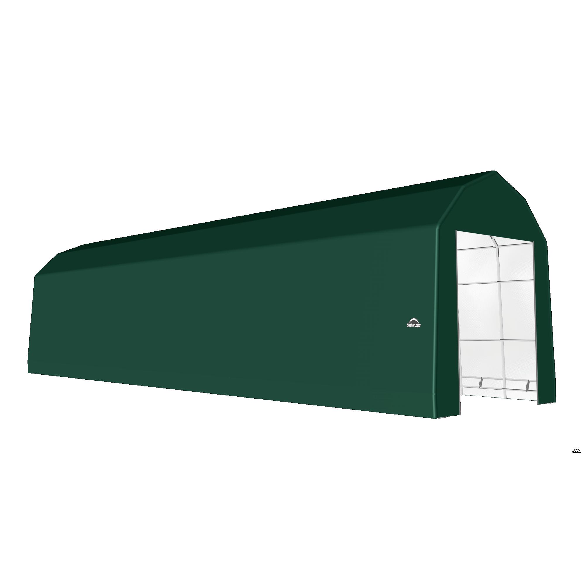 SP Barn 15X52X17 Green 14 oz PE Shelter