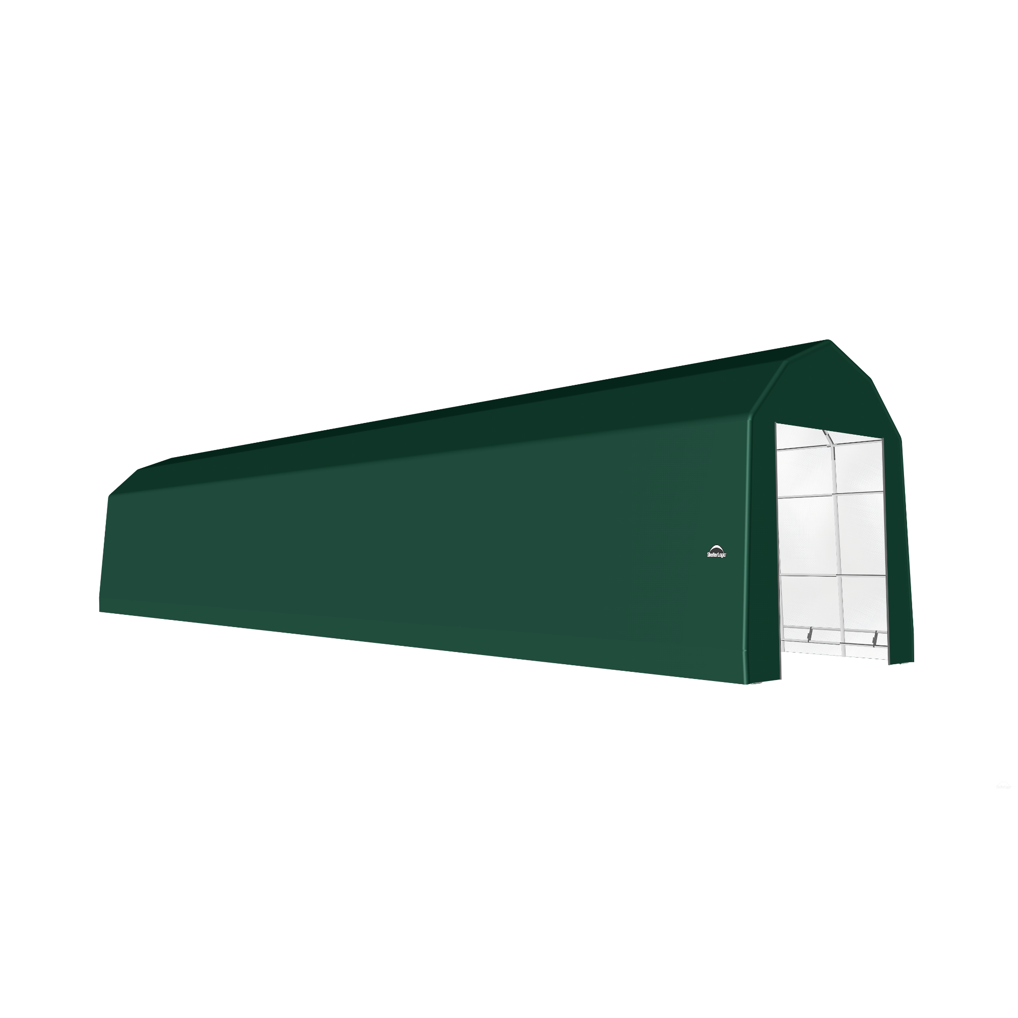 SP Barn 15X88X17 Green 14 oz PE Shelter