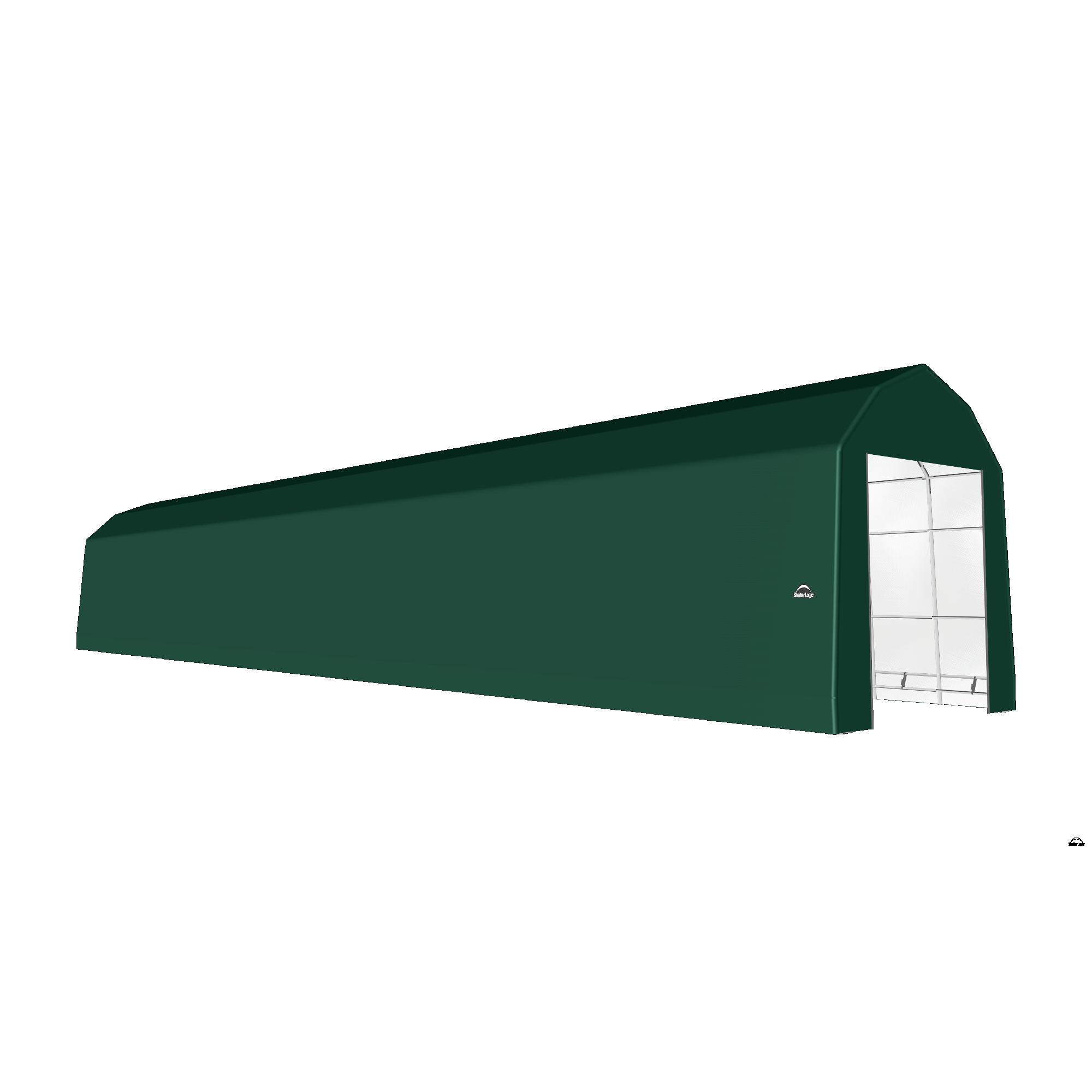 SP Barn 15X92X17 Green 14 oz PE Shelter