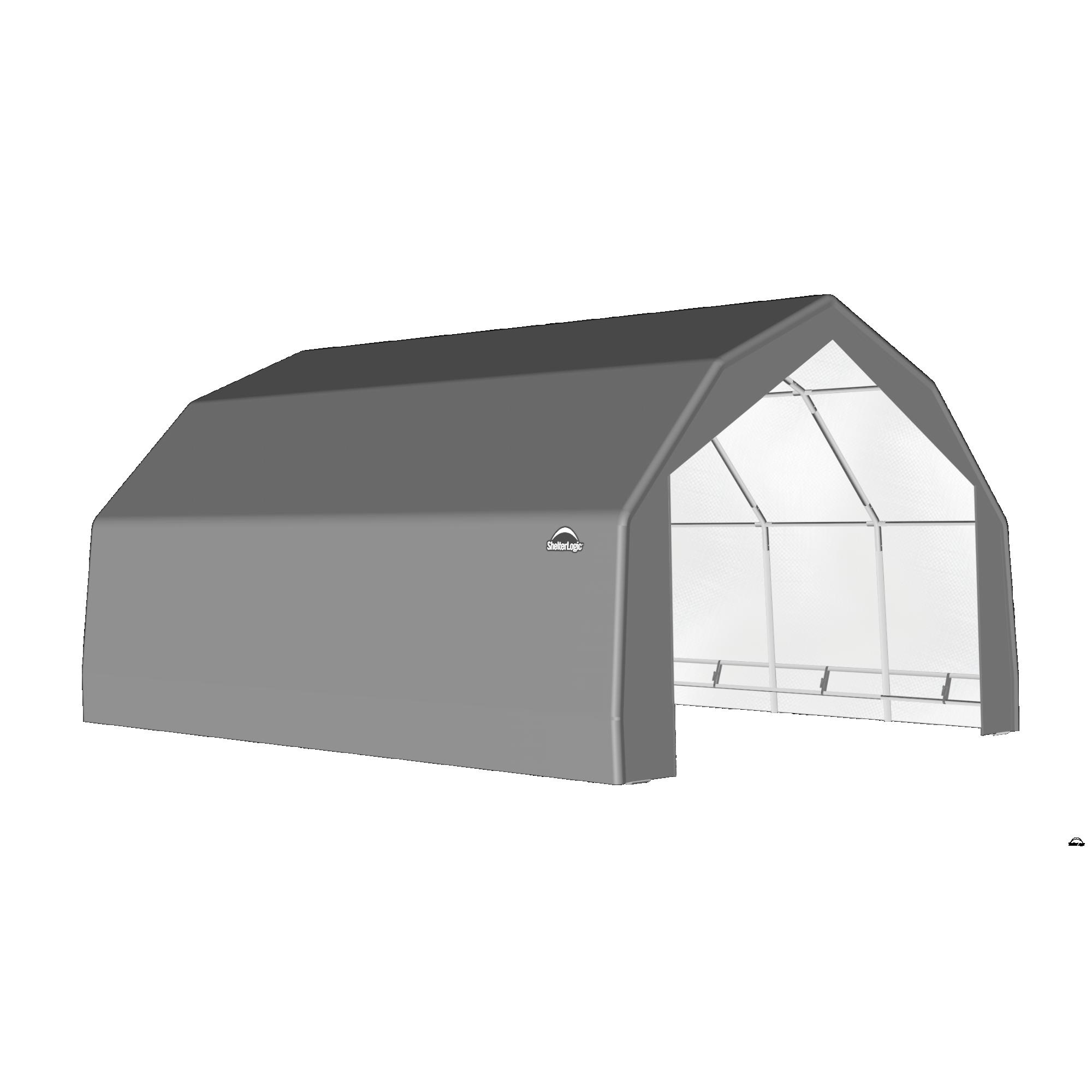 SP Barn 20X20X12 Gray 14 oz PE Shelter