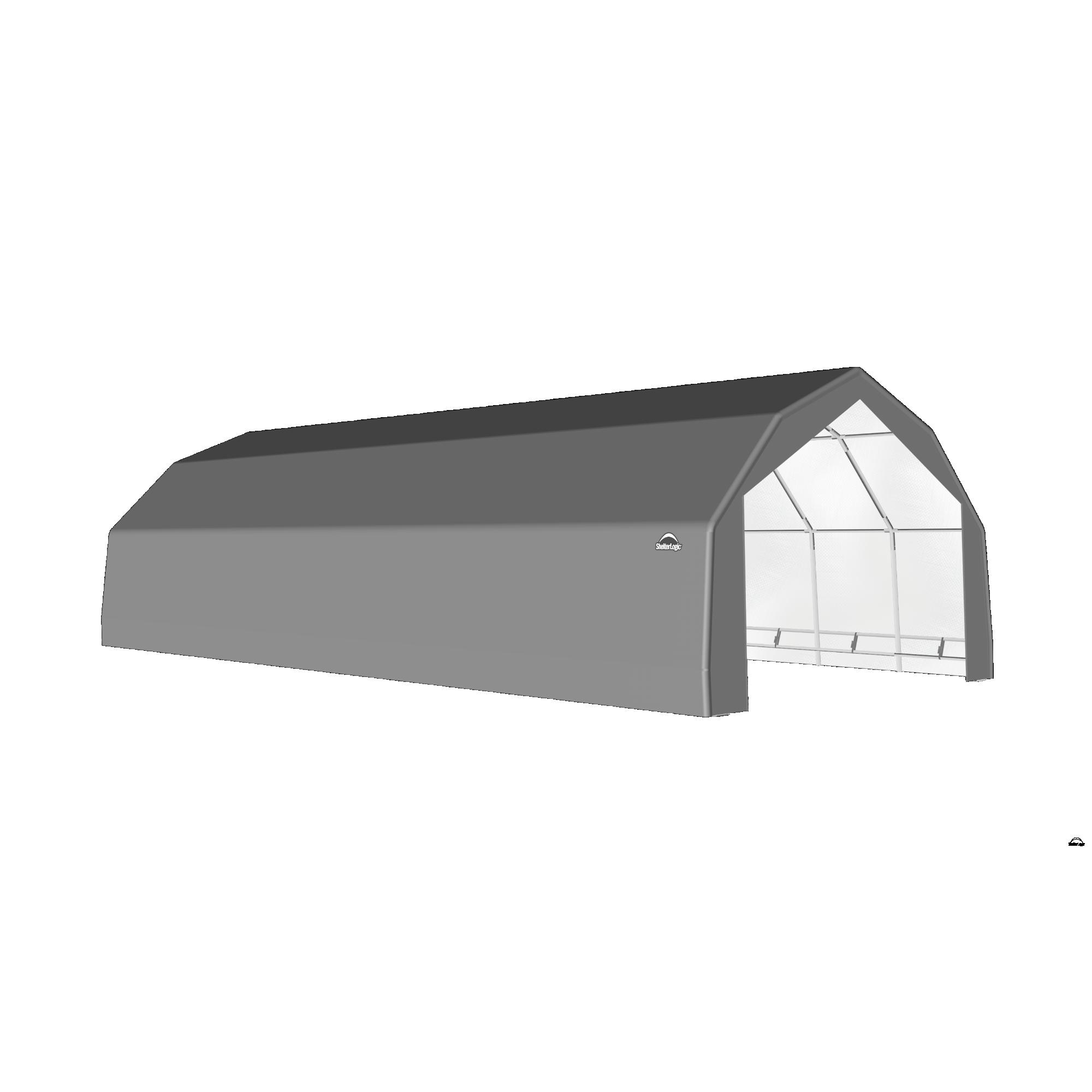 SP Barn 20X44X12 Gray 14 oz PE Shelter