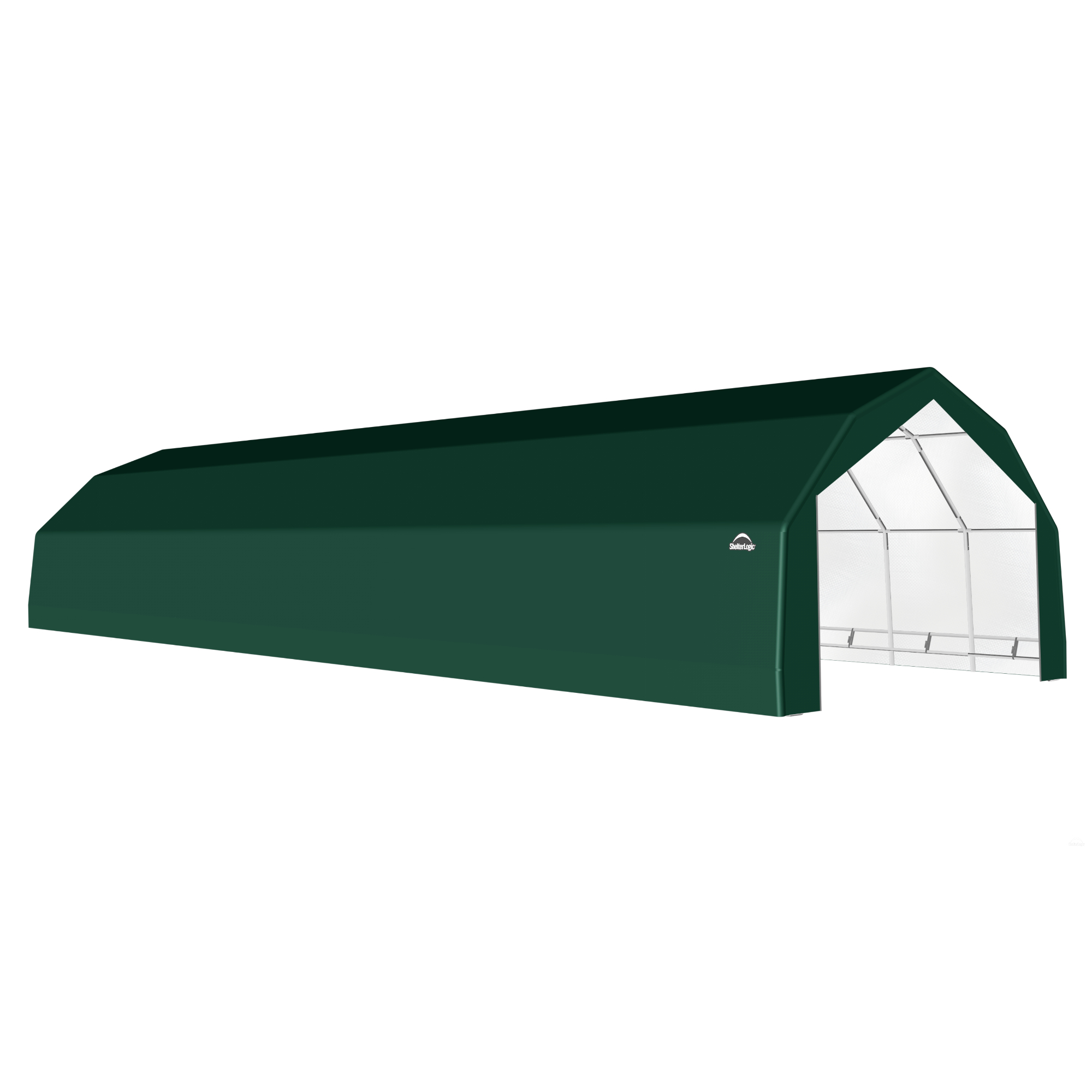 SP Barn 20X52X12 Green 14 oz PE Shelter